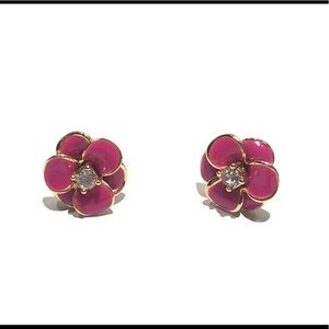 Kate Spade pink flower stud earrings